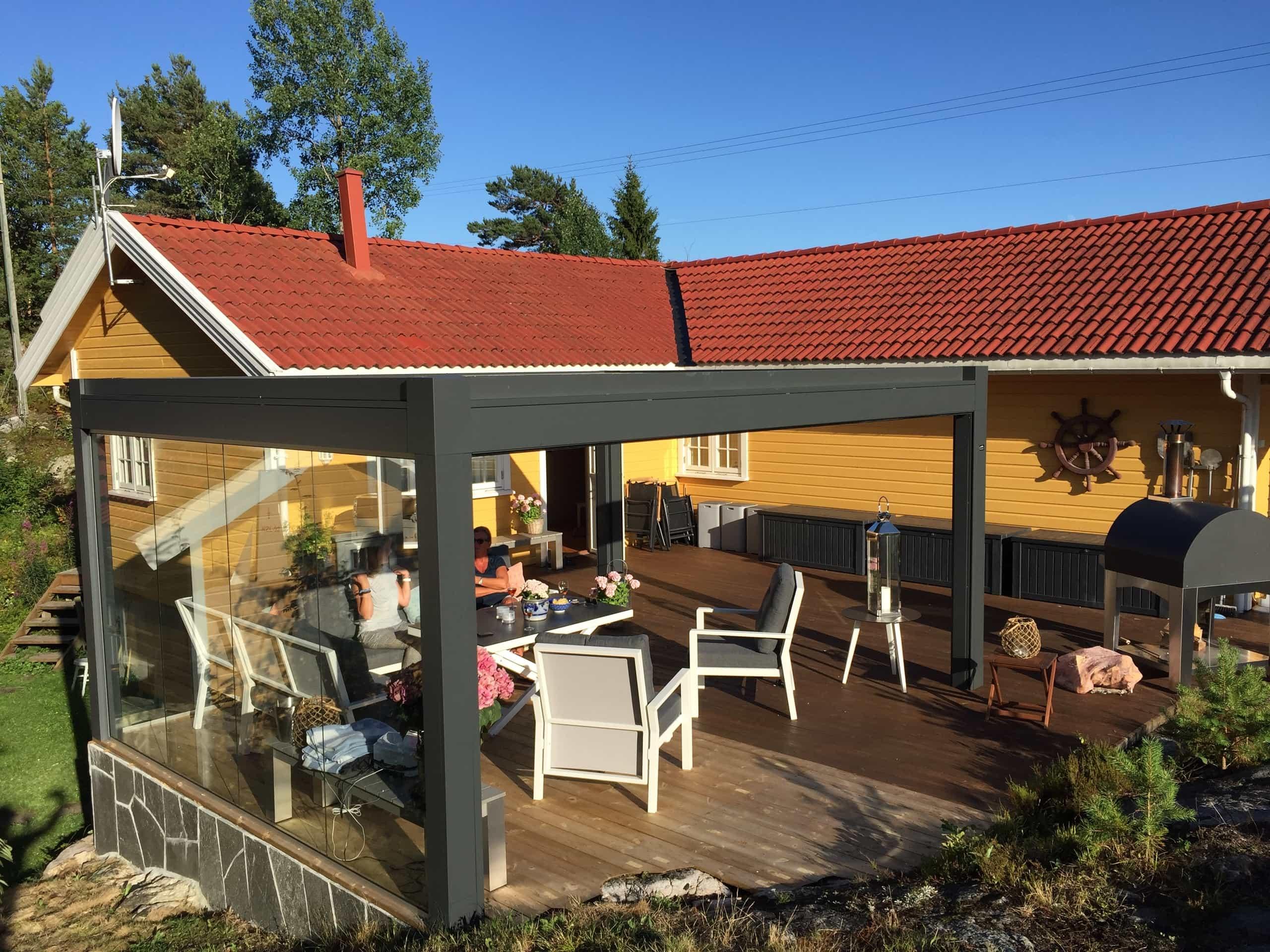 Pergolasystem til privatkunde i Kragerø
