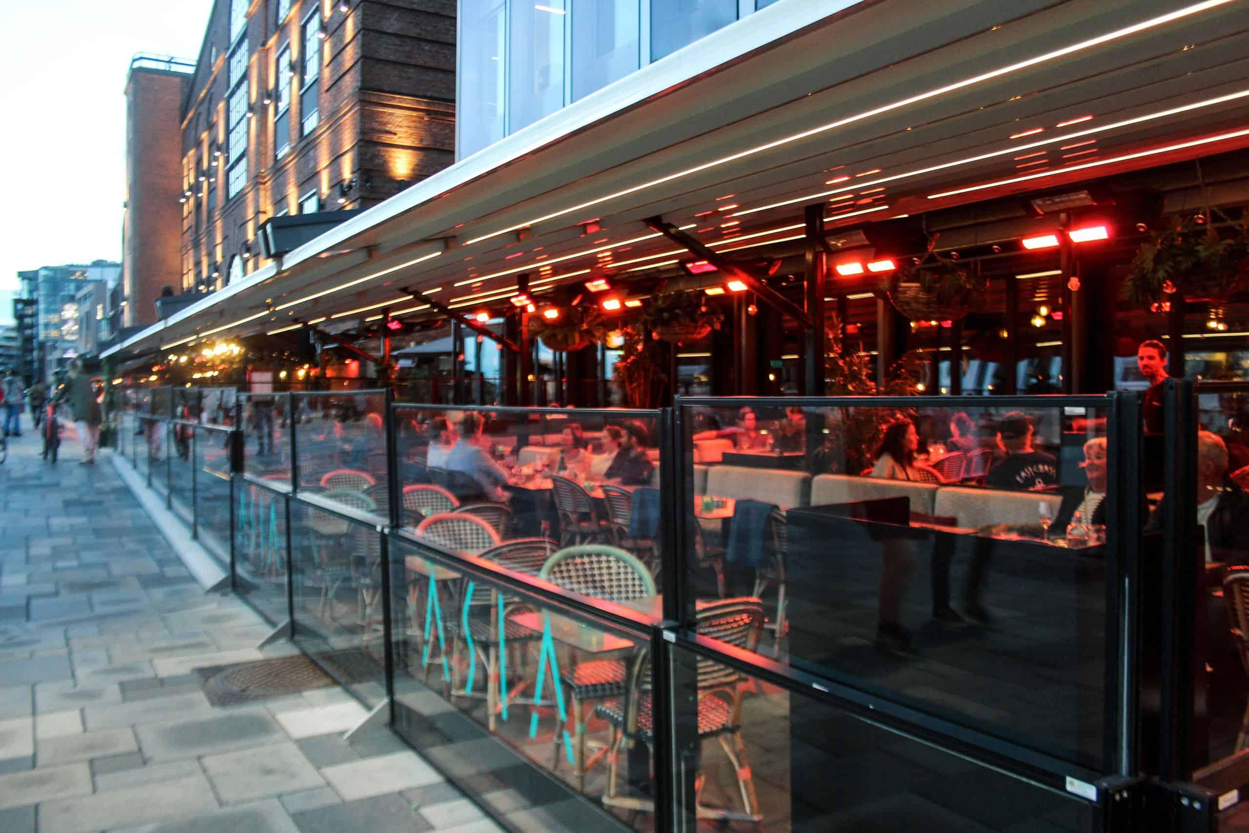 Restaurant Uteservering Solskjerming