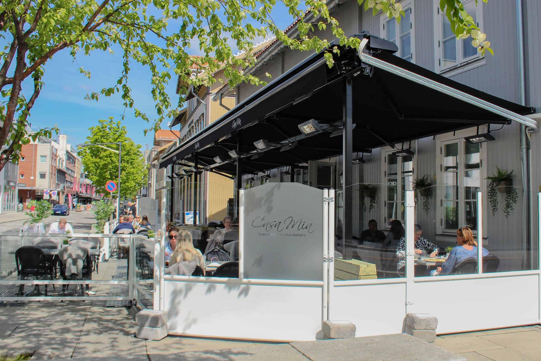 Restaurant Markise Solskjerming