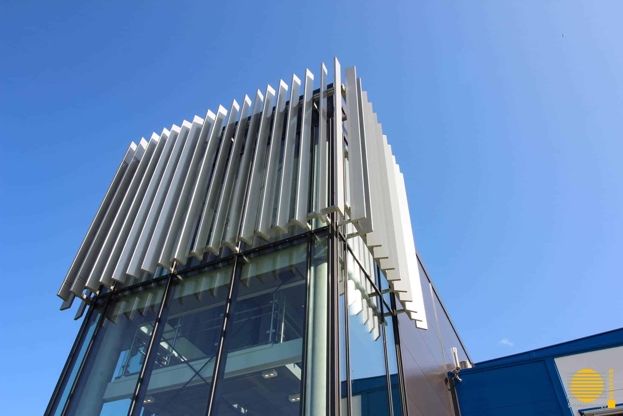Solskjerming Næringsbygg