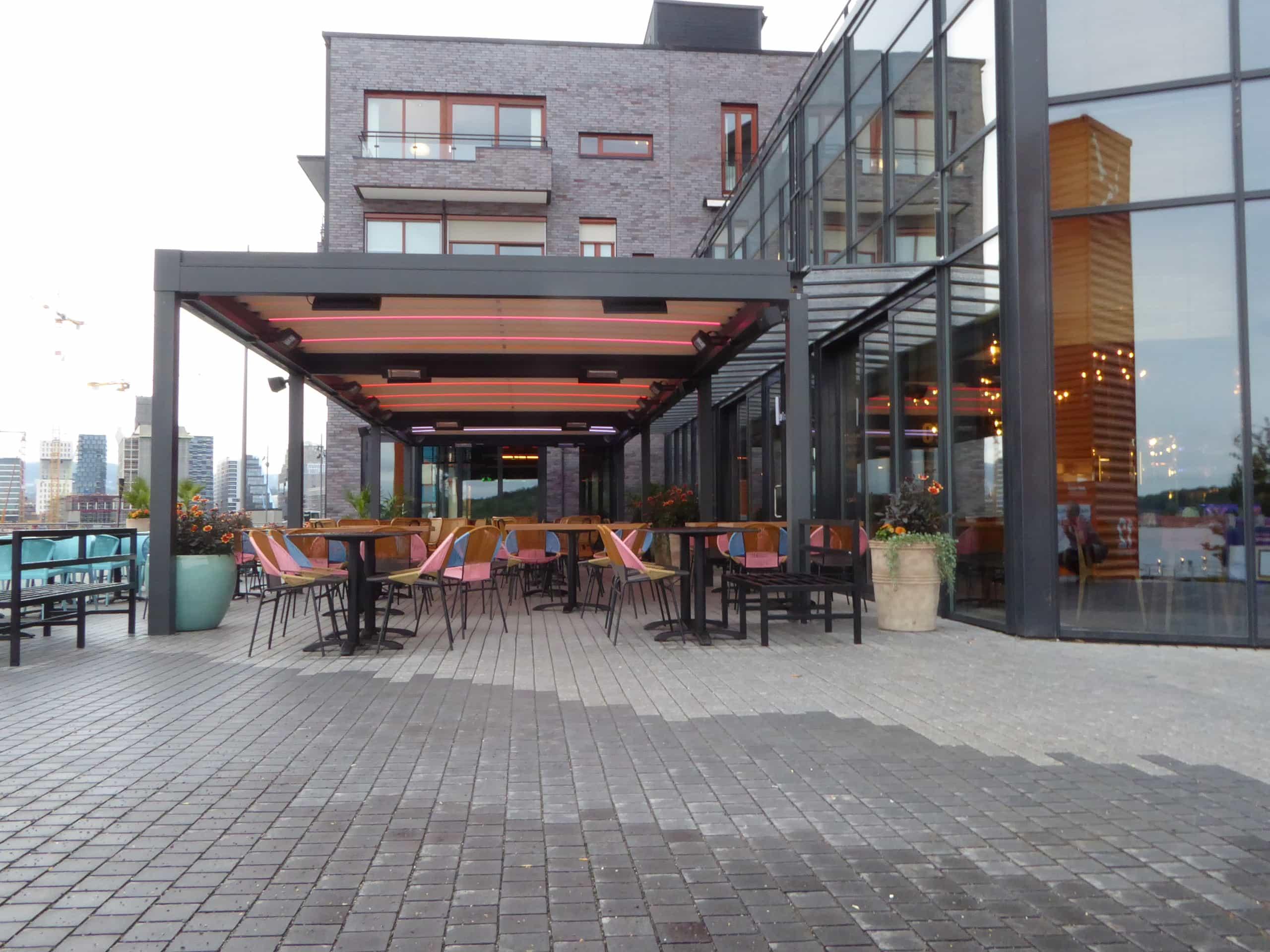 Solskjerming Restaurant Coyo