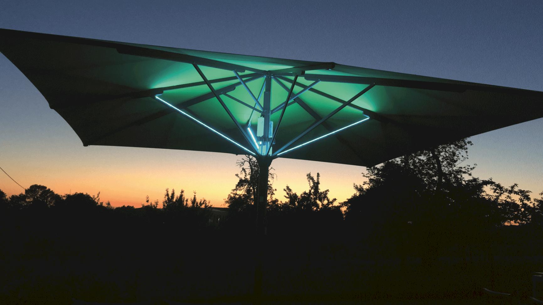 Parasoll LED Web