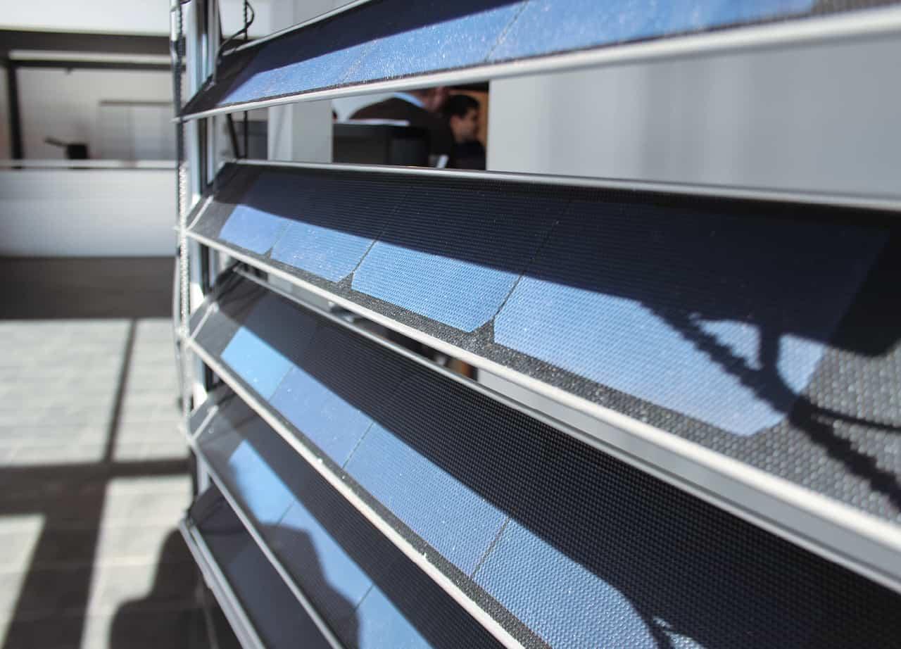 Solcellepaneler Utvendig Persienne