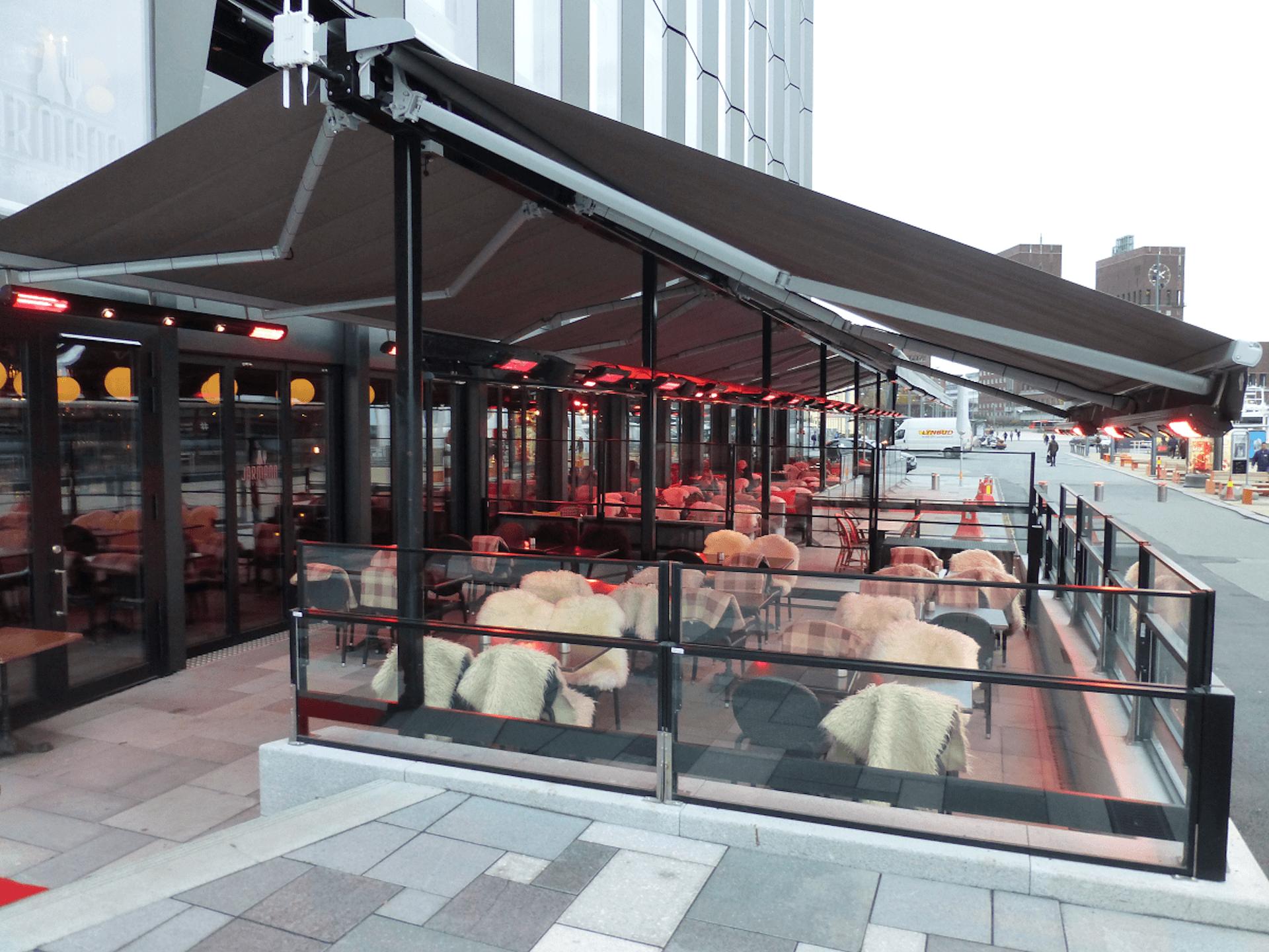 Restaurantmarkiser, Aker Brygge