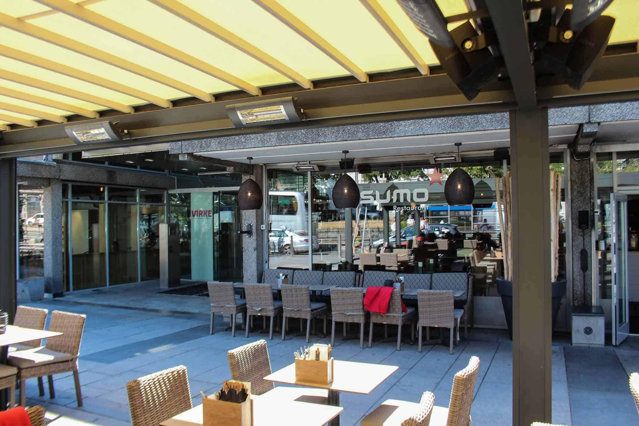 Solskjerming Cafe