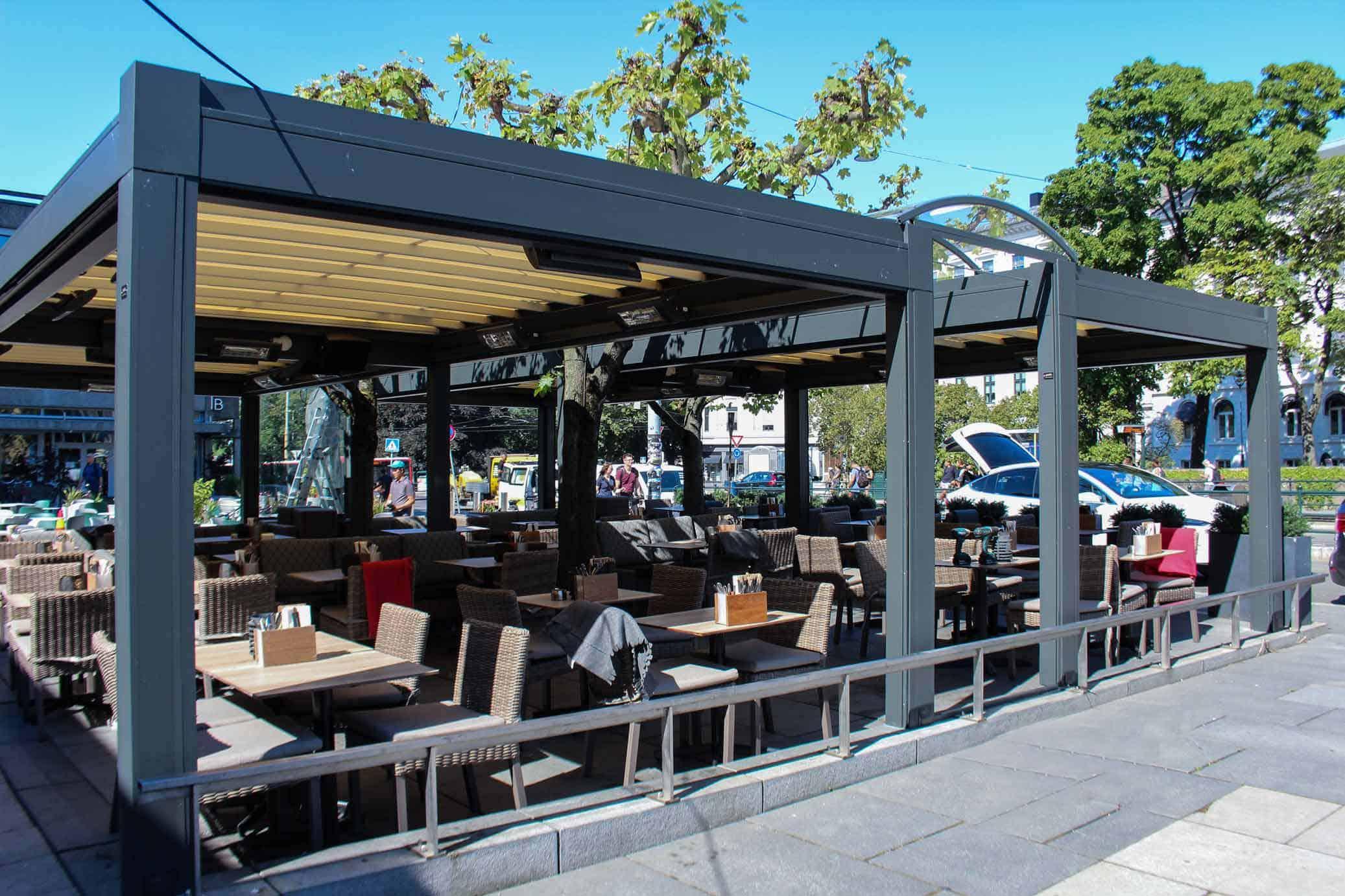 Utvendig Solskjerming Cafe
