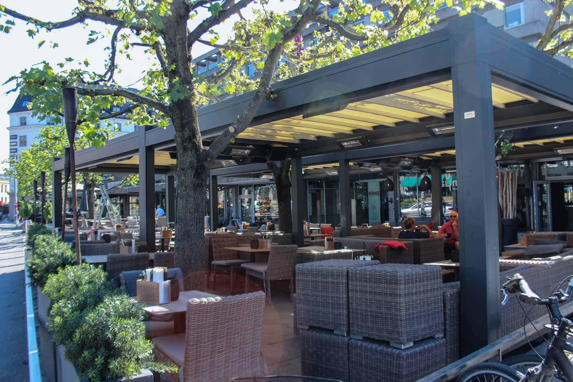 Utvendig Solskjerming Cafe Og Restaurant